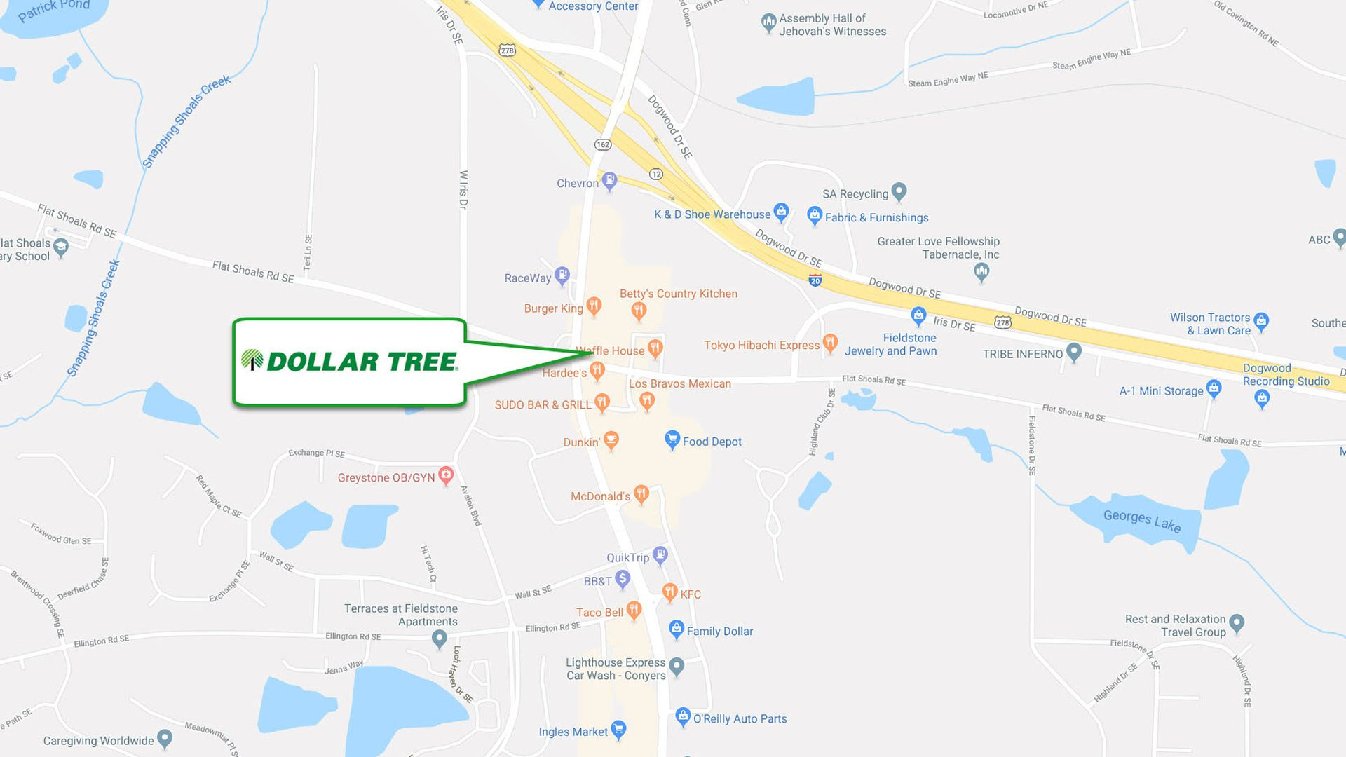 Dollar Tree Map on